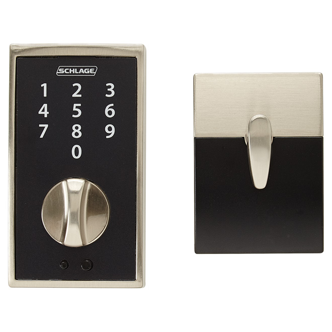 Touch Keyless Deadbolt - Century - Satin Nickel
