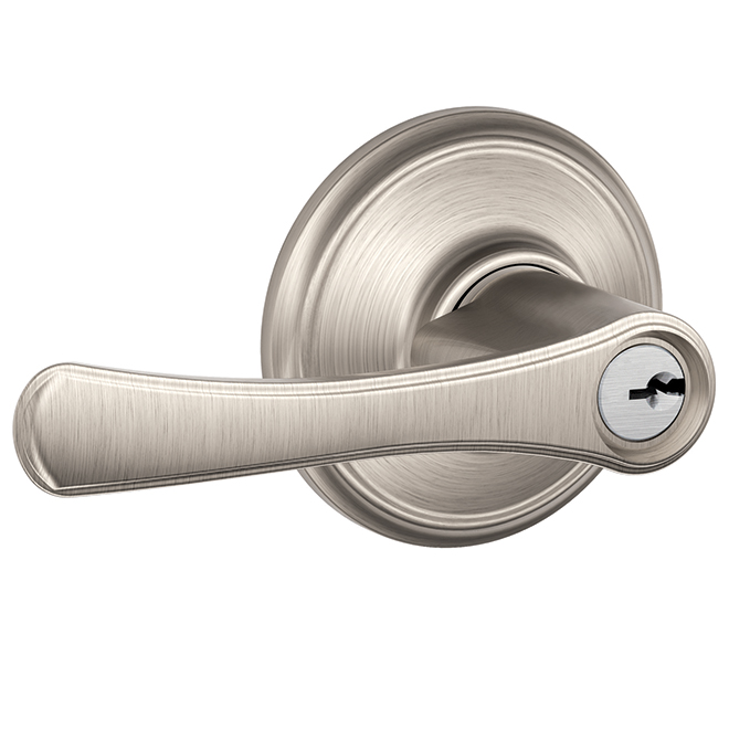Avila Entry Lever Handle - Steel - Satin Nickel