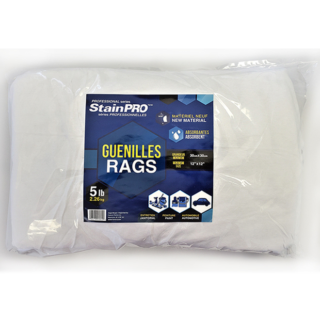 StainPro(TM) Painter's Rags - 5 lb - White