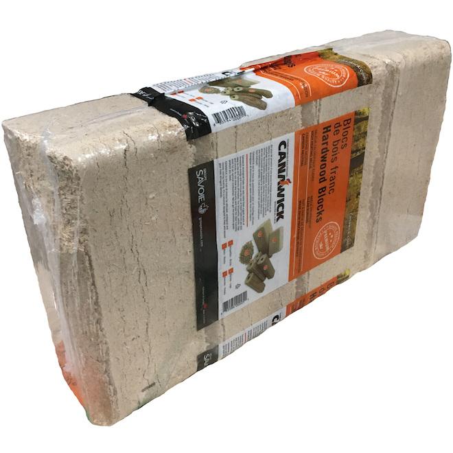 Bûches en fibre de bois, longue durée, paquet de 4