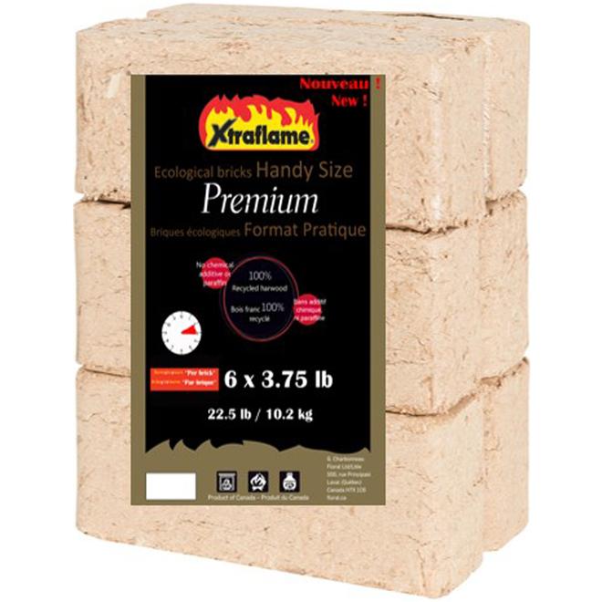 Xtraflame Ecological Firelogs - Wood Fiber - 6/Pack