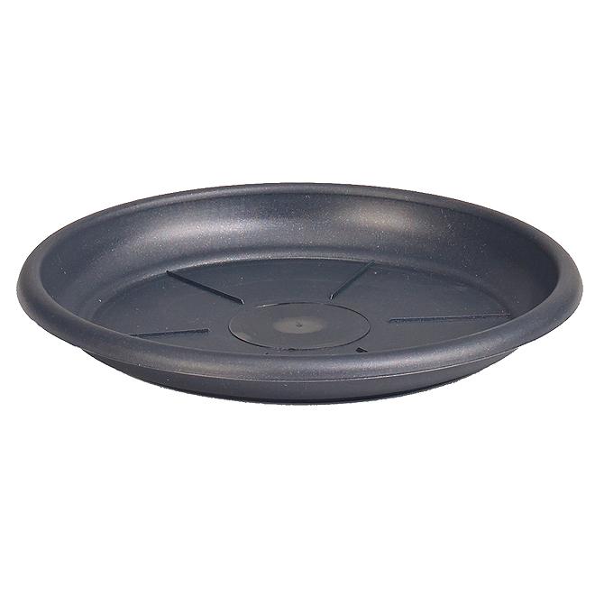 "Plastic Plant Saucer 7"" - Anthracite"