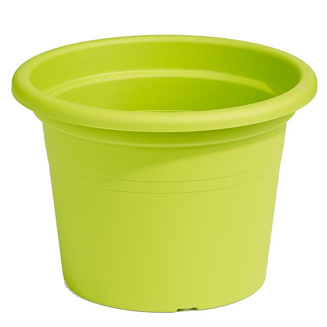 "Plastic Round Planter 8"" - Lime"