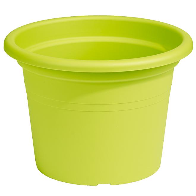 Jardinière ronde en plastique 10 po, lime