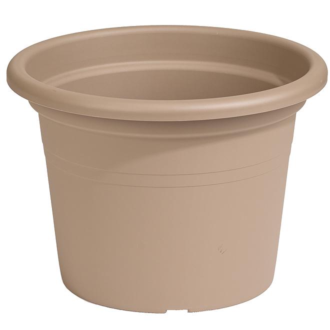 "Plastic Round Planter 10"" - Brown"