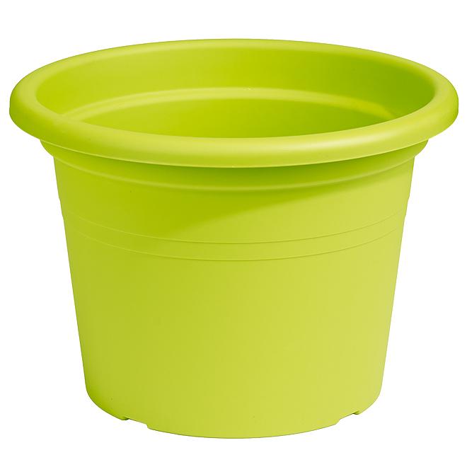 "Plastic Round Planter 12"" - Lime"