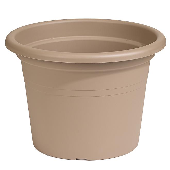 Jardinière ronde en plastique 12 po, marron