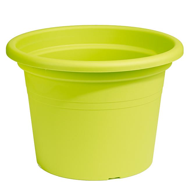 Jardinière ronde en plastique 14 po, lime