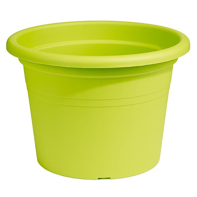 Jardinière ronde en plastique 16 po, lime