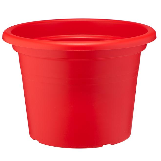 """Plastic Flower Pot - 14"""" - Red"""
