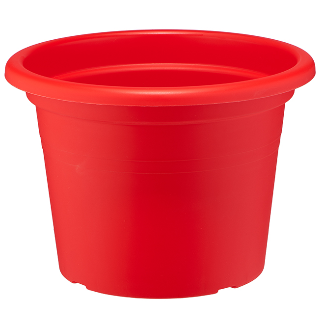 "Plastic Flower Pot - 12"" - Red"