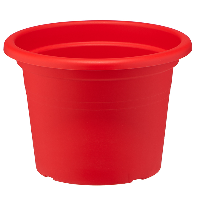 """Plastic Flower Pot - 8"""" - Red"""
