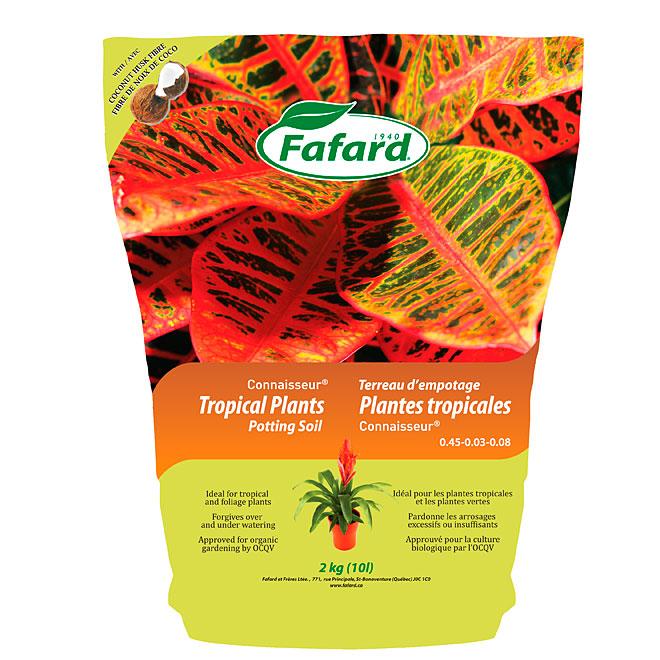Terreau d'empotage pour plantes tropicales