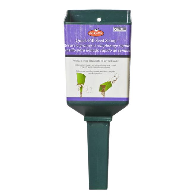 Entonnoir en plastique pour grains, vert