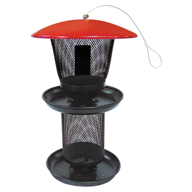 Mangeoire pour oiseaux, 4 lb, rouge/noir