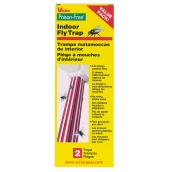 Indoor Fly Traps - Poison Free - Sticky 3D Design - 2 Pack