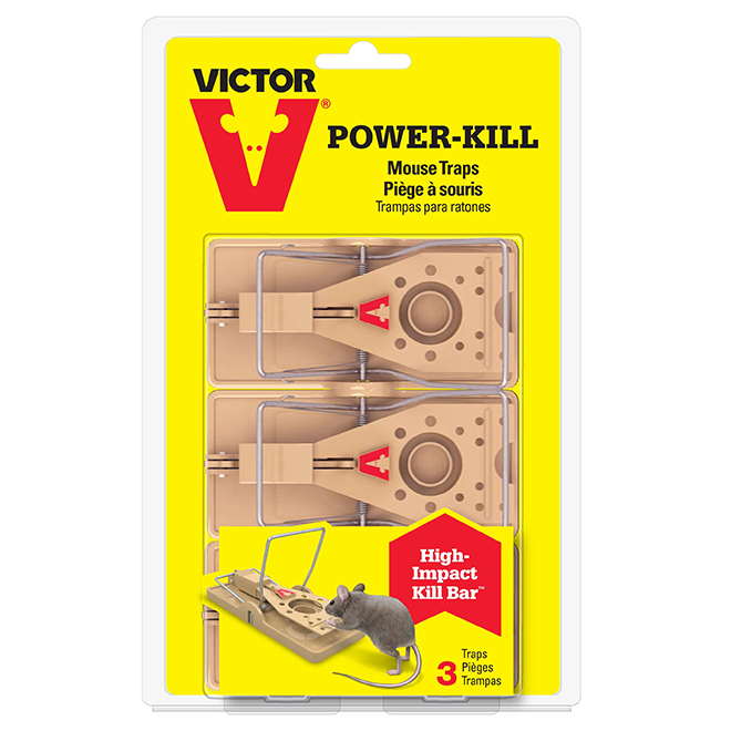 Mouse Trap - Power-Kill Mouse Trap - 3 Pack