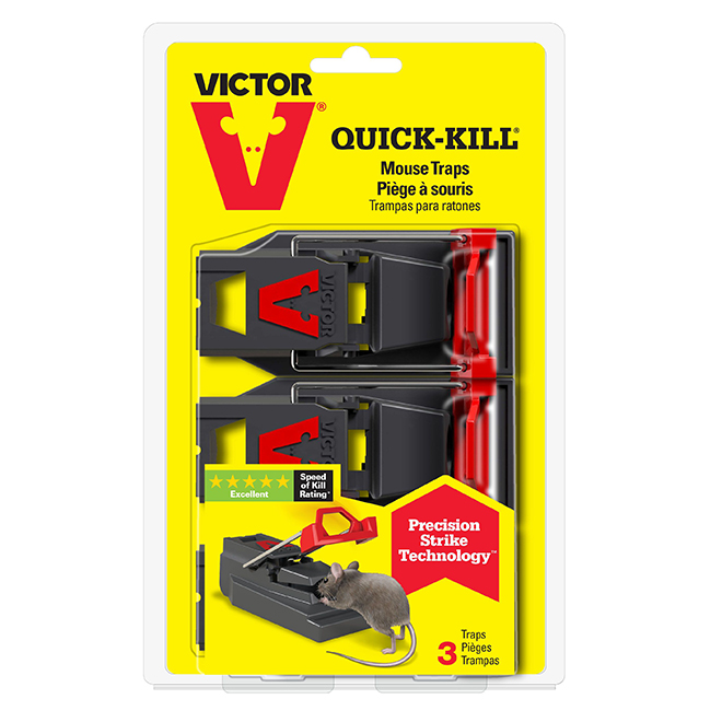 Mouse Trap - Quick-Kill Mouse Trap - 3 Pack