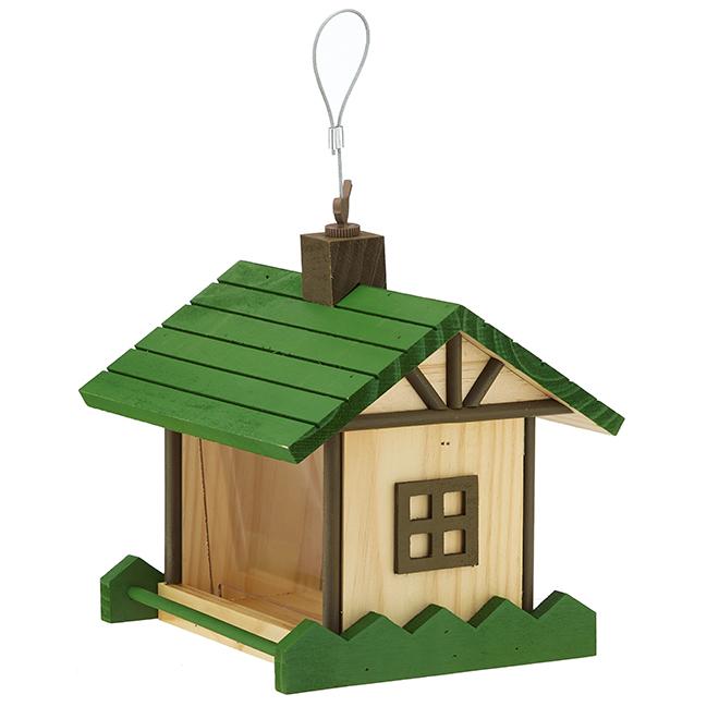 Mountain Lodge-Style Bird Feeder - 2 lbs - Green