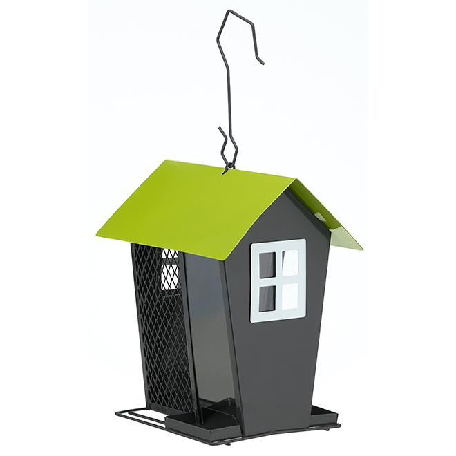 Metal Bird Feeder - Grey/Green
