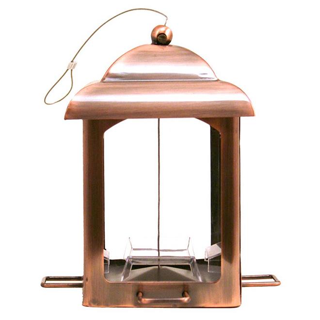 Bird Feeder - 2.5 bl - 4 Ports - Antique Copper