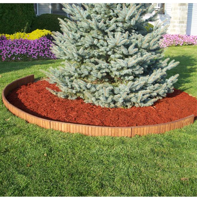 Bordure de jardin en bois, 3 pi