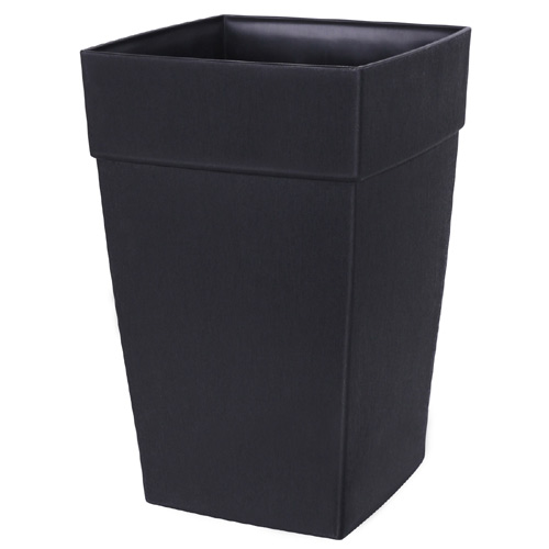DCN Harmony Tall Planter - Plastic - 12-in x 18-in - Black