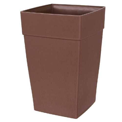 DCN Harmony Tall Planter - Plastic - 8-in x 12-in - Brown
