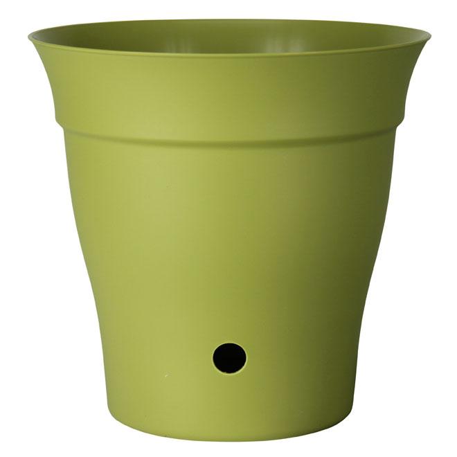 Pot et soucoupe interne «Contempra» Vert