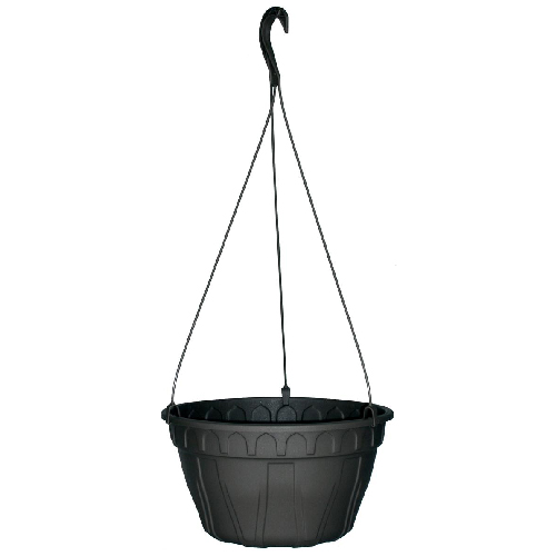"""Azura"" Hanging Planter - Black"