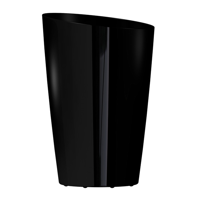 DCN Mirage - Tall Slanted Planter - 13-in x 19.5-in - Gloss Black