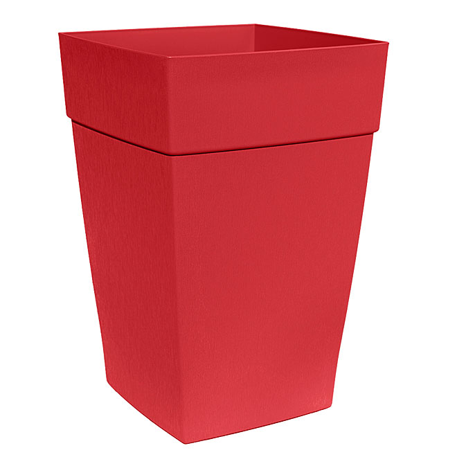 DCN Harmony Elongated Planter - Resin - 16-in - Red