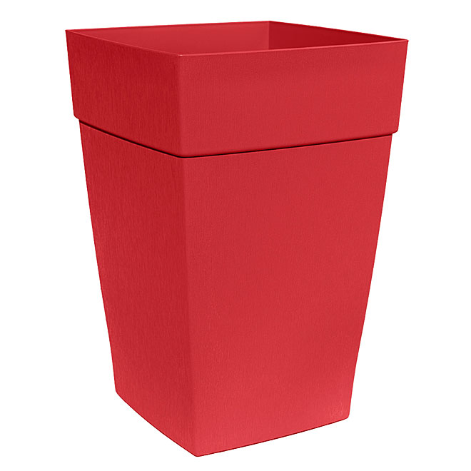 DCN Harmony Tall Planter - Plastic - 12-in - Red