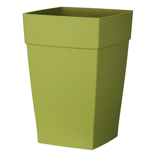 DCN Harmony Tall Planter - Plastic - 12-in - Green
