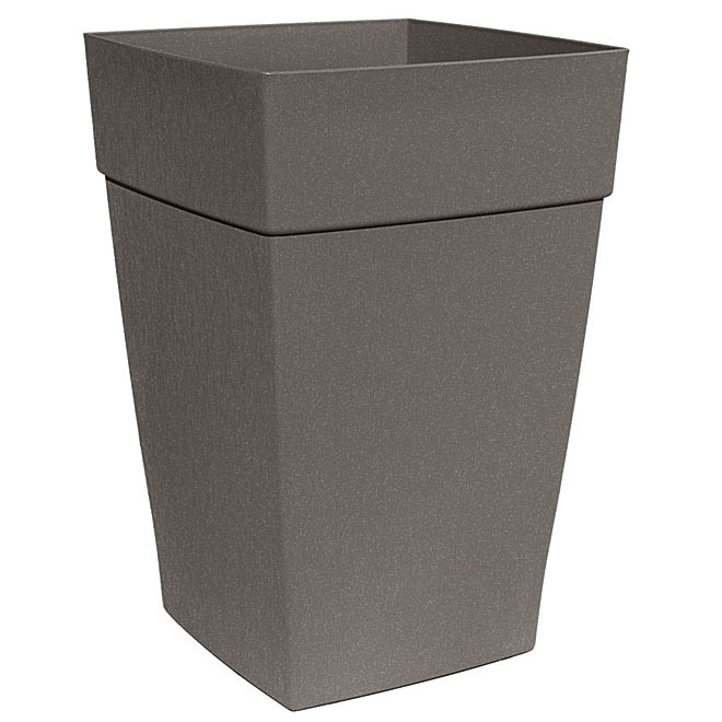 DCN Harmony Tall Planter - Plastic - 16-in - Slate