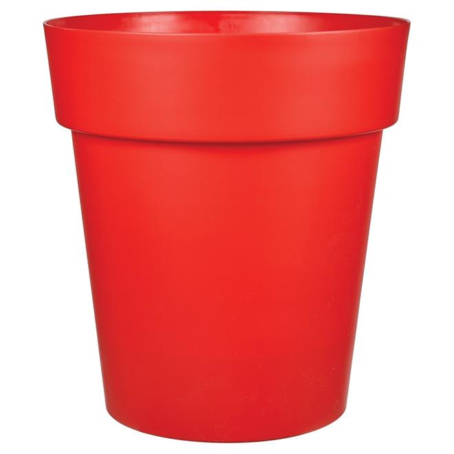 """Viva"" Plastic Planter - 21"" x 23.5"" - Flat Red"