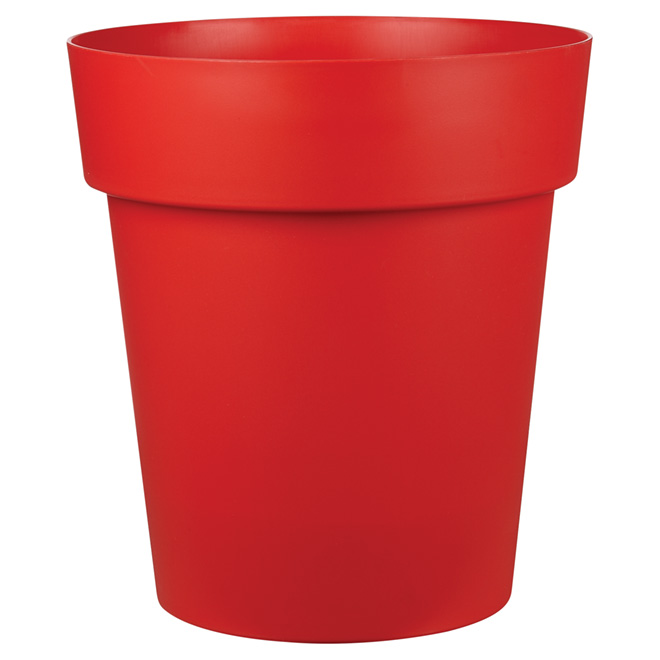 """Viva"" Plastic Planter - 17-in x 19-in - Matte Red"
