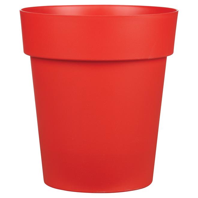 Viva Plastic Planter - 13-in x 14.5-in - Matte Red