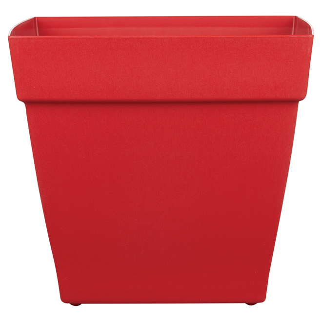 DCN Harmony Plastic Rail Planter - 16-in - Red