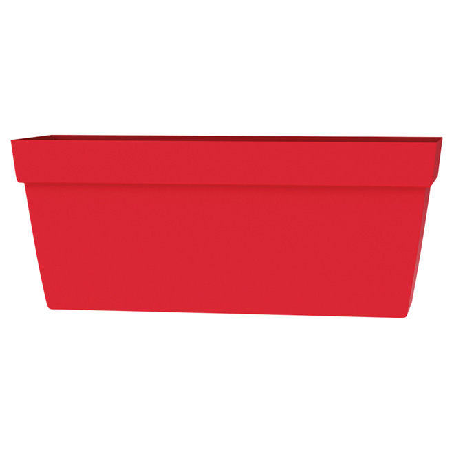 DCN Viva Rectangular Planter - 24-in - Plastic - Flat Red