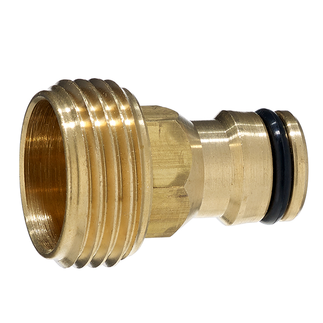 Male Tap connector - Solid Brass - 3/4''