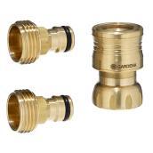 Accessory Adapter - Brass - 3-Piece