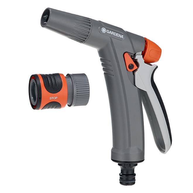 Pistolet d'arrosage Gardena(MD), ajustable, gris/orange