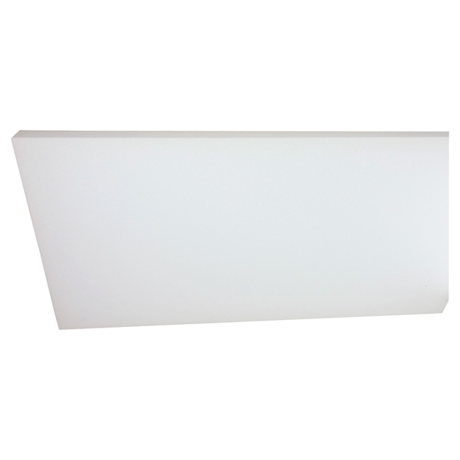 """Panneau isolant PSE de Type I, 3/4"""" x 14,5"""" x 48"""", blanc"""