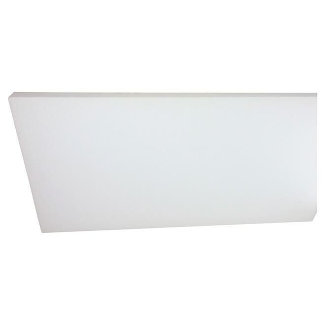 """Panneau isolant PSE de Type I, 1 1/2"""" x 14,5"""" x 48"""", blanc"""