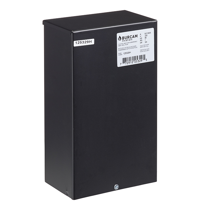 Boîte de contrôle, 3/4 ch, noir