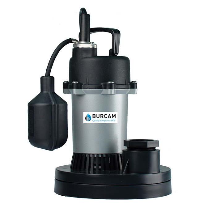 Sump Pump with Mechanical Switch - 1/3 HP - Plastic