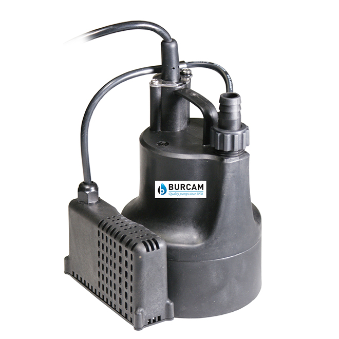 Utility Pump with Mechanical Switch - 1/6 HP - Plastic
