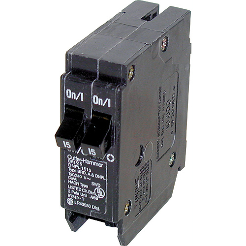 120 VAC 15-15 A DNPL Circuit Breaker 1-1 Pole Plug-In
