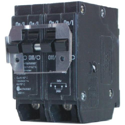 Disjoncteur DNPL enfichable 120/240 VAC 15 A 2-2 pôles